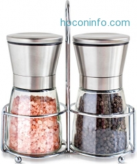 ihocon: Salt and Pepper Shakers with Matching Stand鹽巴,胡椒研磨調味罐