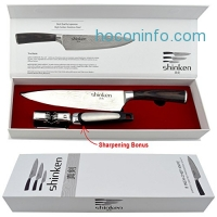 ihocon: Shinken PROFESSIONAL JAPANESE CHEF KNIFE, 8 Inch Blade with KNIFE-SHARPENING TOOL