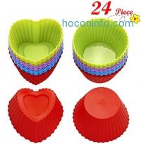 ihocon: Chefaith 24-Pcs Reusable Silicone Baking Cups矽膠烤杯