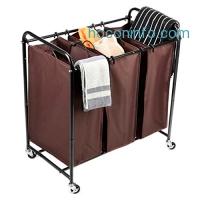 ihocon: MaidMAX 3-Bag Rolling Laundry Sorter 三格洗衣推車