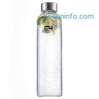 ihocon: MIU COLOR 18oz Glass Water Bottle玻璃水瓶