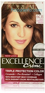 ihocon: L'Oreal Paris Excellence Creme, 6CB Light Chestnut Brown, (Packaging May Vary)