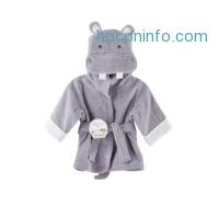ihocon: Baby Aspen, Hug-alot-amus Hooded Hippo Robe, Purple, 0-6 Months