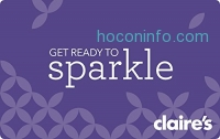 ihocon: $50 Claire's Gift Cards for only $40 (Redemption Online Only) - E-mail Delivery: Gift Cards