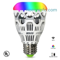 ihocon: LOFTEK-SANSI 10W RGBW light Bulbs, Wifi Smart Led Bulbs, 800 lumen dimmable colorful party lighting with APP control function 光線微調多色變換手機app控制燈泡