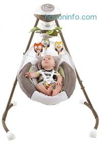 ihocon: Fisher-Price 電動搖籃 My Little Snugabear Cradle 'N Swing