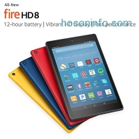 ihocon: All-New Fire HD 8 Tablet with Alexa, 8 HD Display, 16 GB, Black - with Special Offers