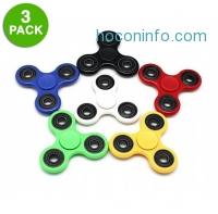 ihocon: 3-Pack: Fidget Hand Tri-Spinner Anxiety & Stress Relief Toy
