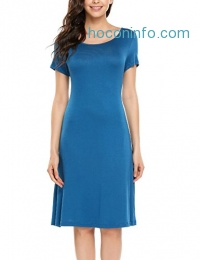 ihocon: Elesol Women Short Sleeve Dress