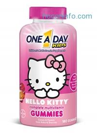 ihocon: One A Day Kids Hello Kitty Gummies, 180 Count兒童維他命軟糖
