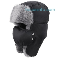 ihocon: Prooral Hunting Hat Ushanka Ear Flap Chin Strap and Windproof Mask Nylon Winter Ear Flap Hat