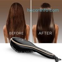 ihocon: USpicy Hair Straightening Brush with FREE Heat Resistant Glove 直髮電梳,附隔熱手套