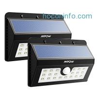 ihocon: Mpow Solar Motion Sensor Lights 2-Pack LED動作感應太陽能庭園燈
