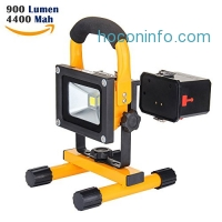 ihocon: LOFTEK LED Work Light and Detachable 4400mAh Battery Charger, Waterproof, 700-900lm,Yellow 防水工作燈含行動電源