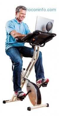 ihocon: FitDesk 2.0 Desk Exercise Bike with Massage Bar