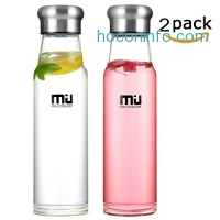 ihocon: MIU COLOR 24.5 oz Glass Water Bottle玻璃水瓶含保護套