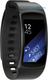 ihocon: Samsung - Geek Squad Certified Refurbished Gear Fit2 Fitness Watch + Heart Rate (Large) - Black