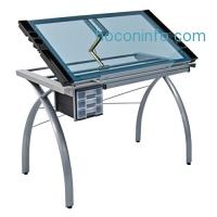 ihocon: Studio Designs 10050 Futura Craft Station, Silver/Blue Glass