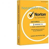ihocon: Norton AntiVirus Basic for Windows (1 User) [Product Key Card]
