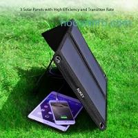 ihocon: Aukey 21W Dual USB Solar Charger太陽能充電板