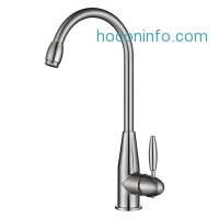ihocon: Homfa Spot-Resistant Stainless Kitchen Faucet Lead Free Kitchen Sink Faucet, Brushed Nickel 廚房水龍頭