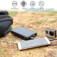 ihocon: AUKEY 20000mAh Solar Charger with SunPower Solar Panels & Dual USB Output太陽能行動電源