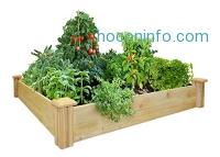 ihocon: Greenes Fence Raised Garden Bed, 48 L x 48 W x 7 H 架高花圃