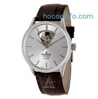 ihocon: Edox 自動上鍊機械男錶 Les Vauberts Men's Watch Leather Swiss Mechanical Automatic (Self-Winding)