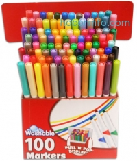 ihocon: RoseArt SuperTip Assorted Color Washable Markers 100-Pack可水洗彩色筆