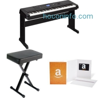 ihocon: Yamaha DGX-660 Premium Digital Grand Piano with Matching Stand, Bench, and $100 Amazon Gift Card