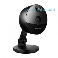 ihocon: Foscam C1 Indoor HD 720P Wireless IP Camera with Night Vision Up to 26ft, Super Wide 115° Viewing Angle, PIR Motion Detection, and More (Black)