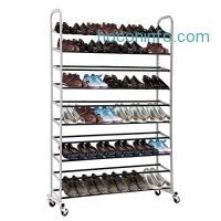 ihocon: MaidMAX 10-Tier 50 Pairs Shoe Rack with Sturdy Wheels十層有輪鞋架