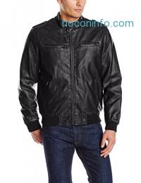 ihocon: Levi's Men's Faux-Leather Fashion Bomber Jacket