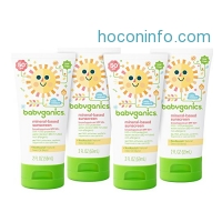 ihocon: Babyganics Mineral-Based Baby Sunscreen Lotion, SPF 50, 2oz Tube (Pack of 4)礦物防曬乳