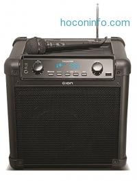 ihocon: ION Audio 便攜藍牙無線麥克風音箱 Tailgater Portable Bluetooth PA Speaker with Mic, AM/FM Radio, and USB Charge Port