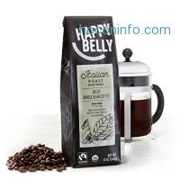 ihocon: Happy Belly Italian Roast Decaf Organic Fairtrade Coffee, Dark Roast, Whole Bean, 12 ounce
