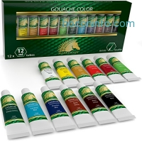 ihocon: Gouache Watercolor Paint Set - 12 x 12ml Tubes水彩顏料