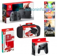 ihocon: Nintendo Switch with Gray Joy-Con Starter Bundle