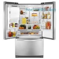 ihocon: Whirlpool 24.7 cu. ft. French Door Refrigerator in Monochromatic Stainless Steel