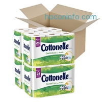 ihocon: Cottonelle GentleCare with Aloe & Vitamin E Double Roll Toilet Paper, Bath Tissue, 12 Count (Pack of 4)