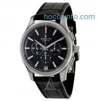 ihocon: Zenith 真力時三眼計時機械皮帶男錶 Captain Chronograph Men's Watch 03-2110-400-22-C493