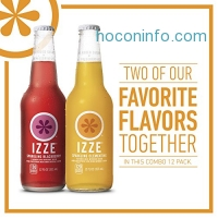 ihocon: IZZE Sparkling Juice Variety Pack, Clementine and Blackberry, 12 Ounce Glass Bottle (Pack of 12)