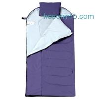 ihocon: Enkeeo Camping Sleeping Bag with Pillow (Temperature Range 30-40F)睡袋含枕頭