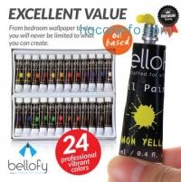 ihocon: Bellofy 24-Color Oil Paint Set 油畫顏料