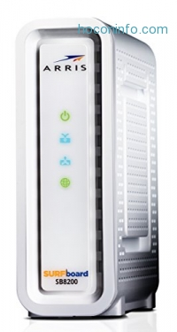 ihocon: Next-Generation ARRIS SURFboard SB8200 DOCSIS 3.1 Cable Modem - Retail Packaging- White