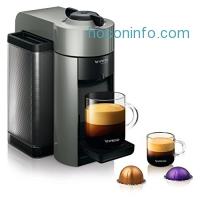 ihocon: Nespresso GCC1-US-GR-NE VertuoLine Evoluo Coffee and Espresso Maker, Grey
