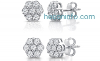 ihocon: 1/2 or 1 CTTW Diamond Composite Stud Earrings In Sterling SIlver by DeCarat