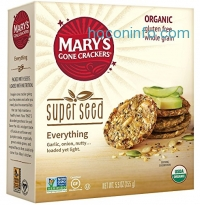 ihocon: Mary's Gone Crackers Super Seed Cracker, Everything, 5.5 Ounce (Packaging may vary)