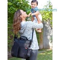 ihocon: Skip Hop Duo Signature Diaper Bag with Portable Changing Mat, Black 媽媽尿片包