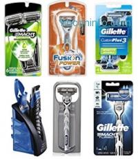 ihocon: Gillette CustomPlus 3 Disposable Razor, Sensitive, 4 Count, Mens Razors / Blades